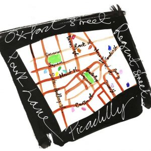 David Downton Fashion Map at 34 Restaurant