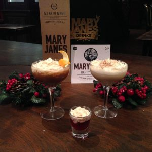 Whipped Cream Cocktails at Mary Janes