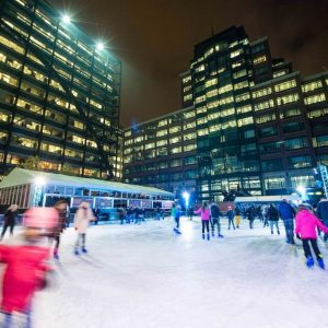 Ice Rink Workouts at Broadgate