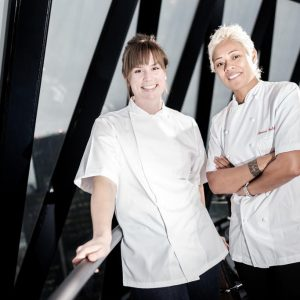Monica Galetti at The Gherkin