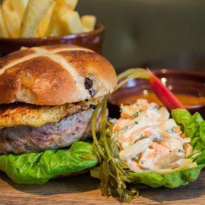 The Botanist Broadgate's: Hot Cross Bunny Burger