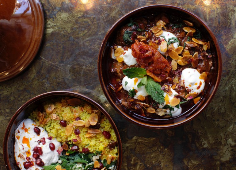 Lamb Tagine with Apricot, Almonds and Lebna