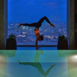 Sky High Yoga at Shangri-La