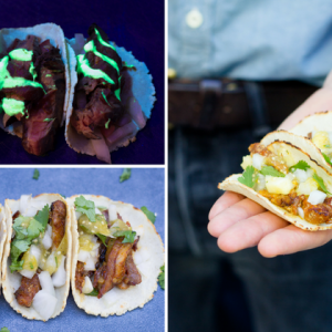 Glow in the Dark Tacos at LOSTACOS