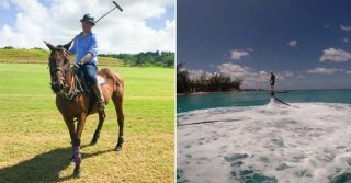 Getting sporty with it: Apes Hill Polo Club