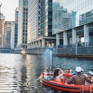 Float Through London in an Inflatable Hot Tub