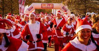 The 10th London Santa Run