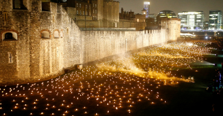 Remembrance Torches at Tower of London