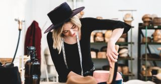 Hat Designer Teressa Foglia at Boxpark Shoreditch