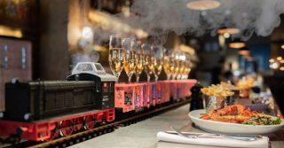 The Brunch Where Champagne Arrives Via Your Own Personal Train