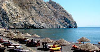 Perissa Beach - Santorini, Greece