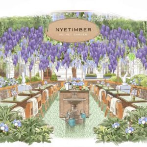 We're Getting Wisteria Hysteria For This Floral Courtyard Pop-Up