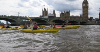 Kayak Along The Thames