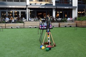 Eccleston Yards Croquet Event for Doorstep Library Charity