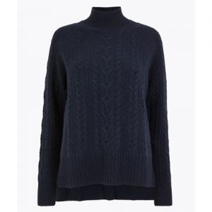 Pure Cashmere Relaxed Fit Cable Knit