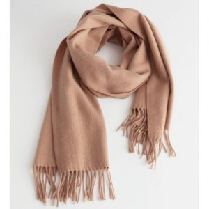 Wool Fringed Blanket Scarf