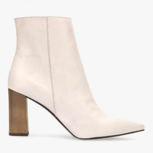 Melanie Leather Pointed Ankle Boots