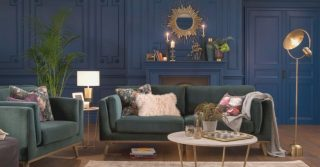 Paint The Walls Blue In A Living Room