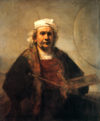 Self-Portrait with Two Circles - Rembrandt van Rijn (Kenwood House)