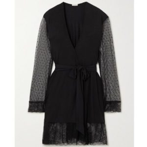Eberjey Iona Love Me Lace-Trimmed Robe